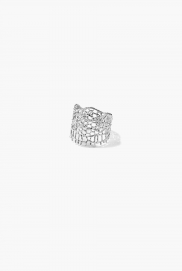 White gold & diamonds Lace ring