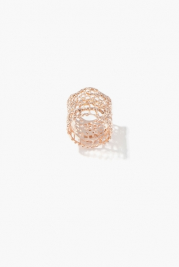 Pink gold Vintage Lace ring