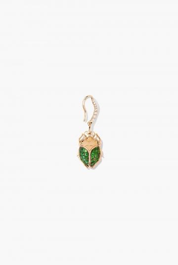 Tsavorites Beetle earring
