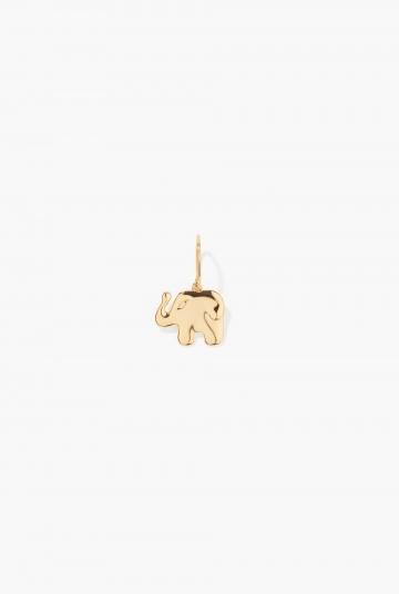 Aurélie Elephant drop earring