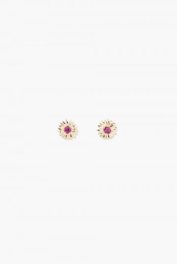 Rhodolite Garnet Bouquet earring
