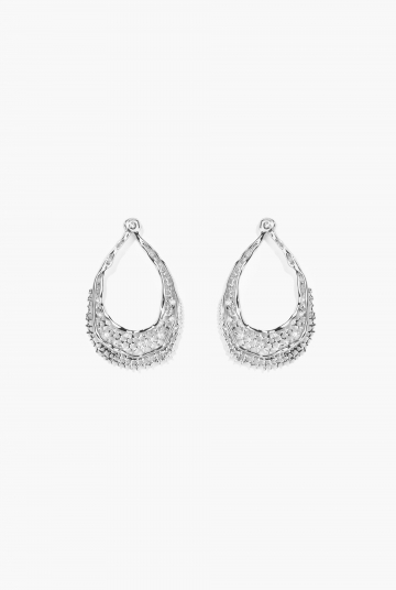 White gold Lace earrings