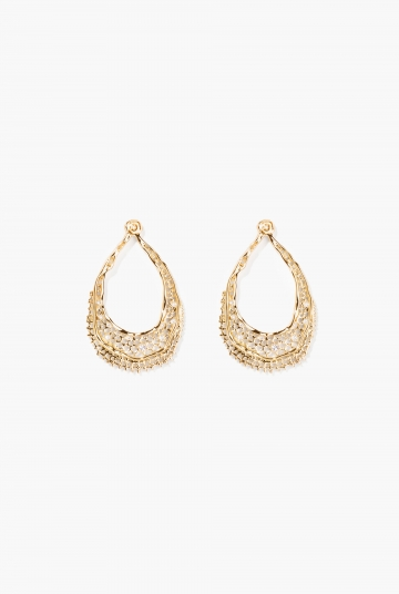 Yellow gold Lace earrings