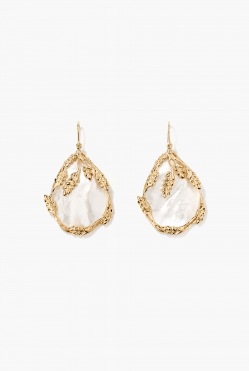 Mother-of-pearl Françoise earrings