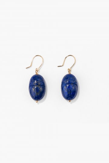 Lapis lazuli Scarab earrings