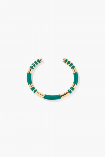 Green emerald Positano bangle