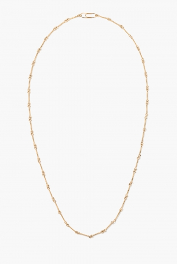 Twisted chain long necklace