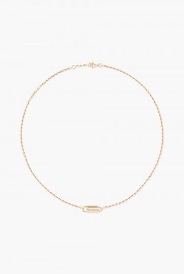 Paper clip necklace