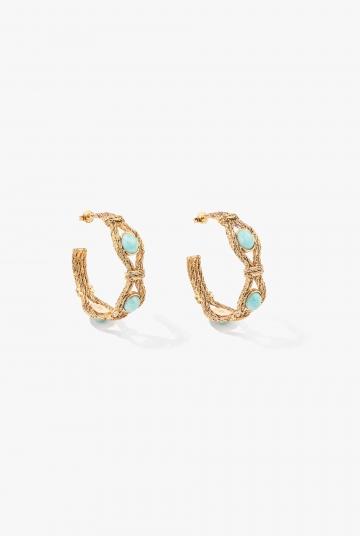 Mizuhiki Hoop earrings