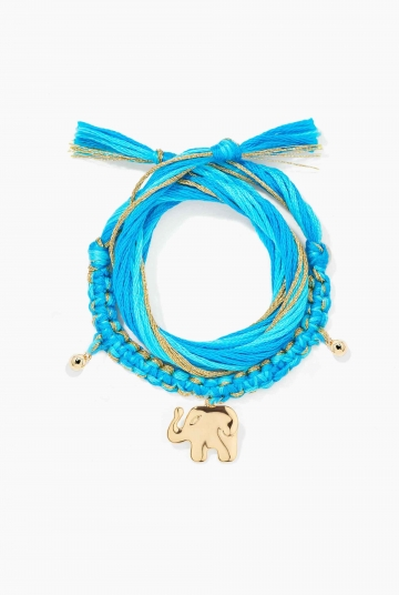 Bracelet Honolulu Blue elephant charm