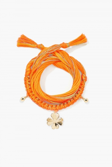 Honolulu Clover Orange Bracelet