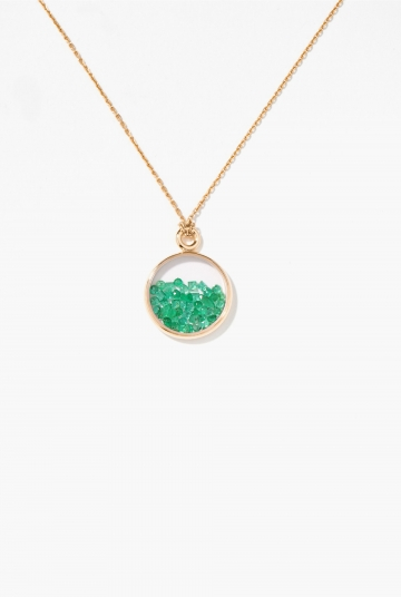 Emeralds Baby Chivor pendant