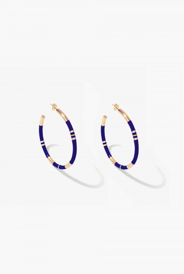 Blue lapis Positano hoop earrings