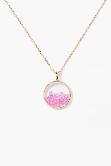 Pink Sapphires Baby Chivor pendant
