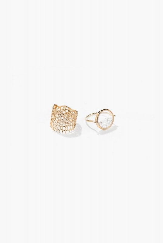 Lace and Diamonds Chivor rings