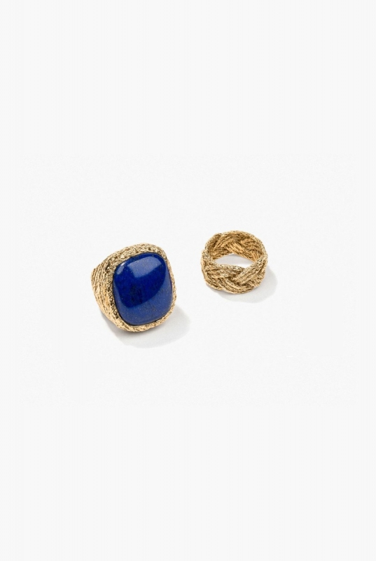 Lapis Miki and Tresse rings