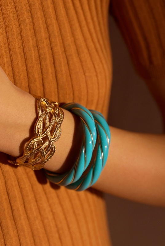 Brandebourg and Turquoise Diana bracelets