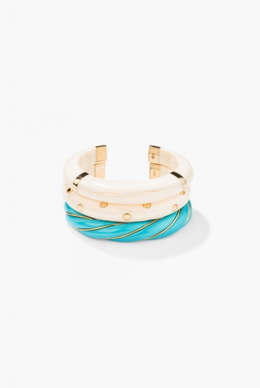Turquoise Diana and Caftan Moon Bracelets