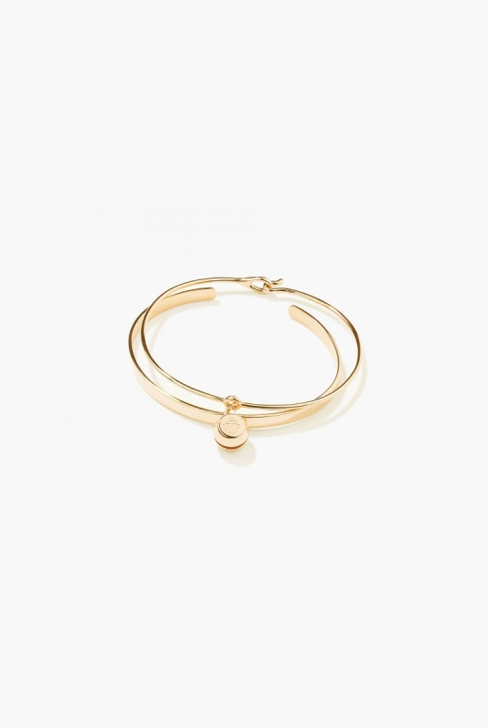 Engraved bangle and Bell bracelet