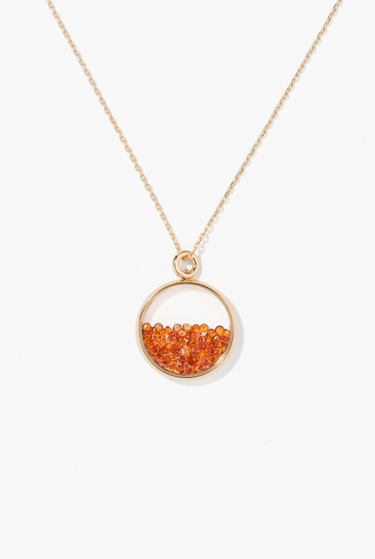 Orange Sapphires Baby Chivor pendant