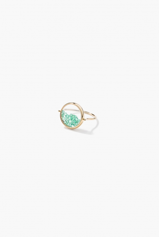 Emeralds Chivor ring