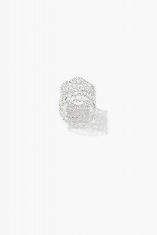 Silver Vintage Lace ring