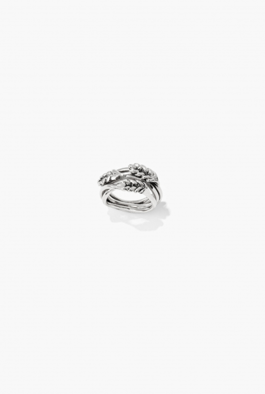 Silver Wheat ring