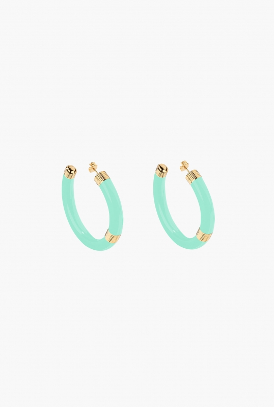 Baby blue KATT HOOP EARRINGS