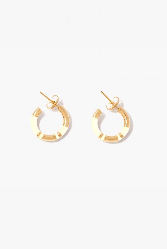 Ivory Positano mini hoop earrings