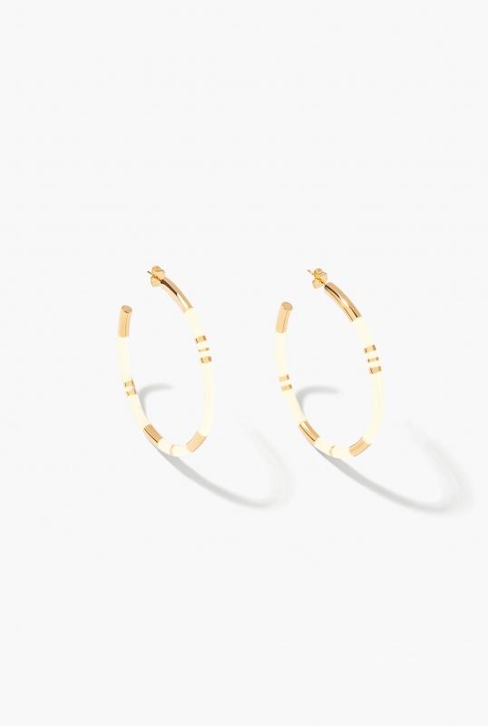 Ivory Positano hoop earrings