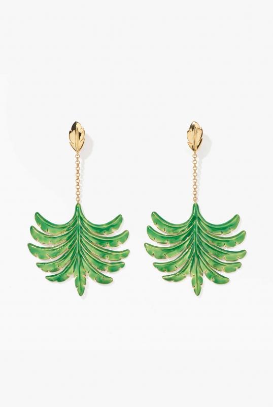 Riviera earrings emerald