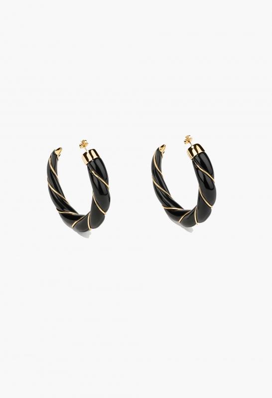 Black Diana earrings