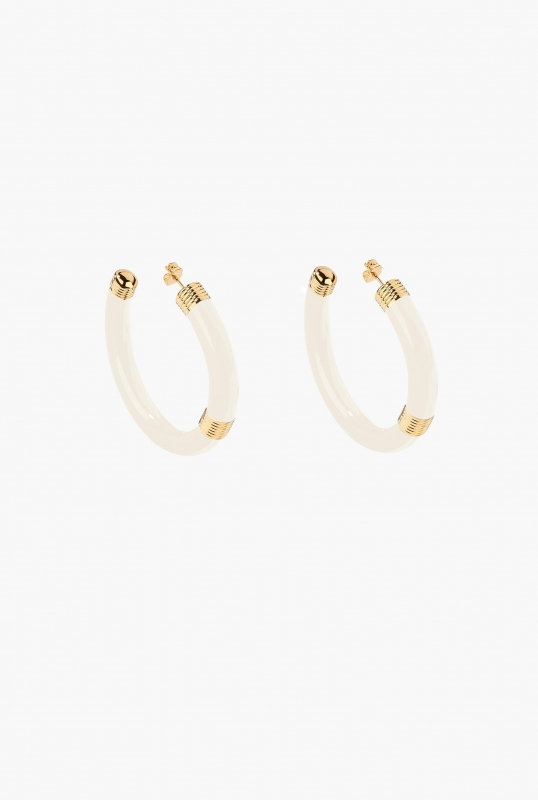 IVORY KATT HOOP EARRINGS