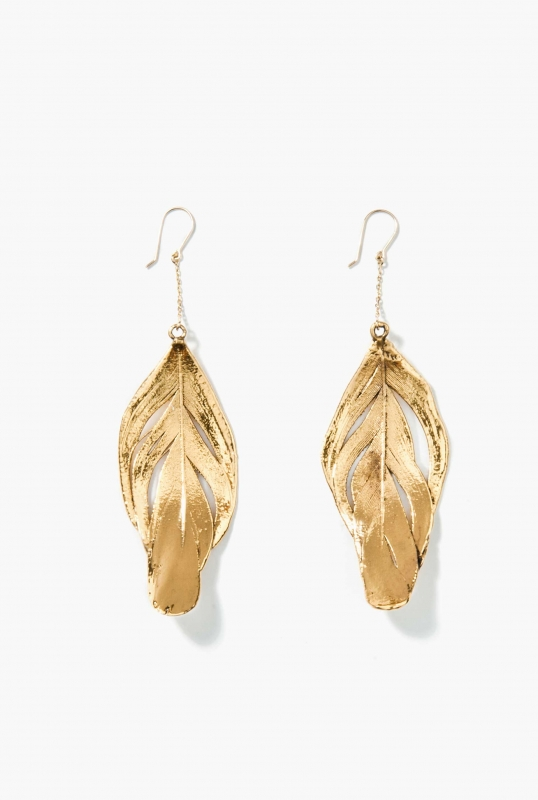 Swan feather earrings