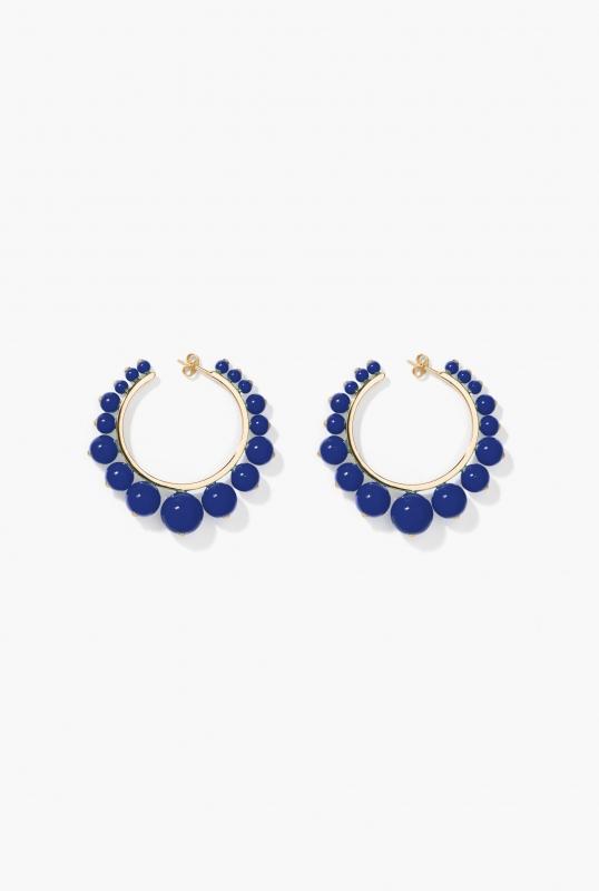 Dark blue Ana hoop earrings