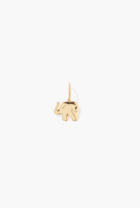 Aurélie Elephant drop earring