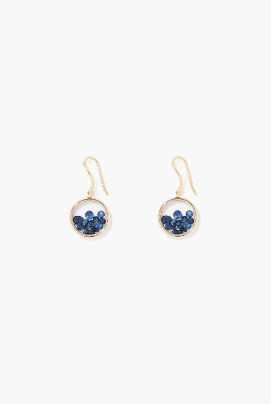 Blue Sapphires Chivor earrings