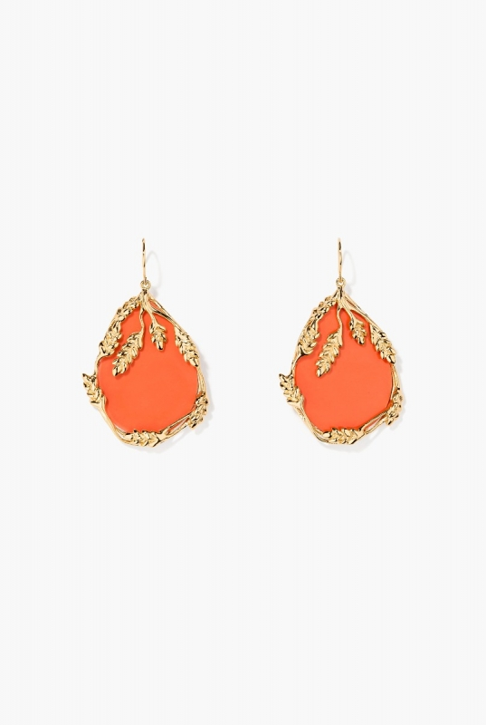 Coral Françoise earrings