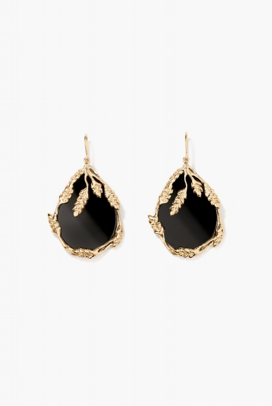 Onyx Françoise earrings