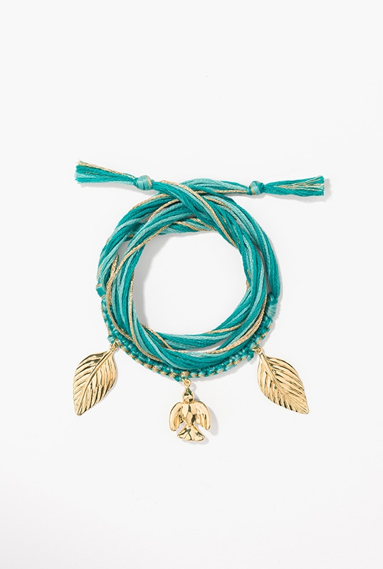 braided-green-cotton-threads-embellished-with-charms-a-dove-and-two-leafs