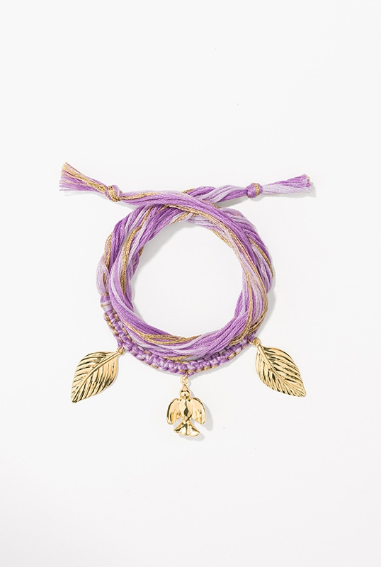 braided-purple-cotton-threads-embellished-with-charms-a-dove-and-two-leafs