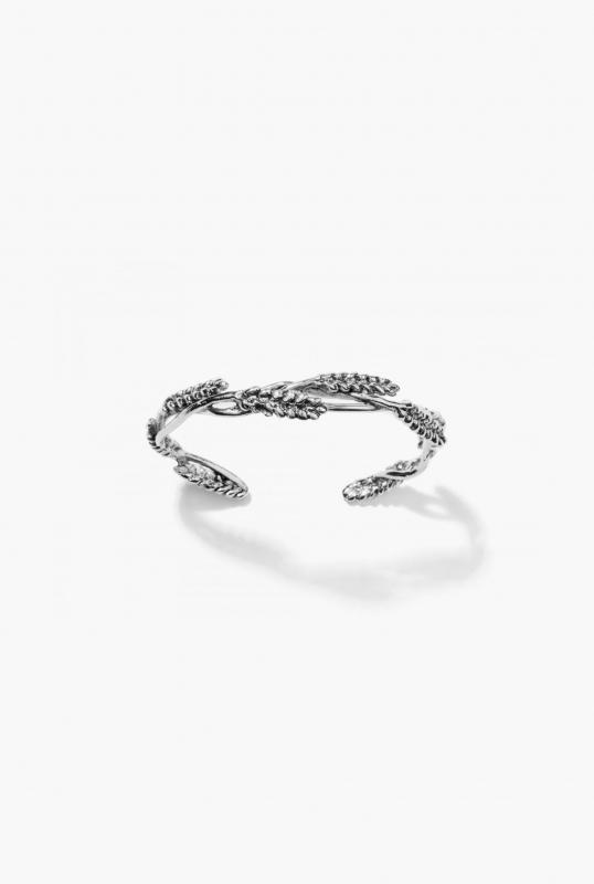 Silver Wheat bangle