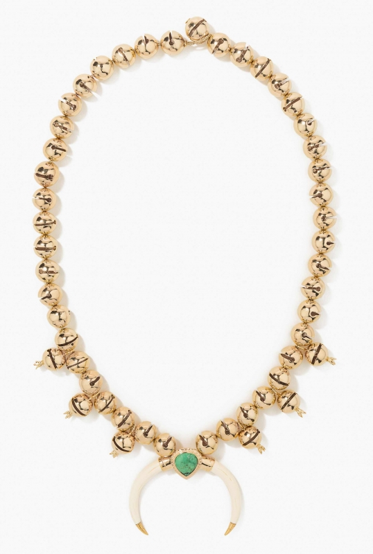 Navajo horn and bells necklace