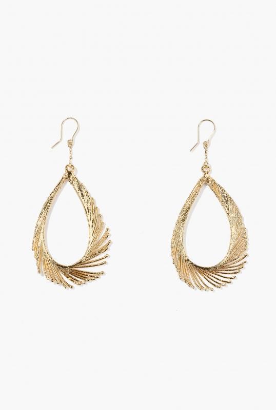 Earrings feathers pendants