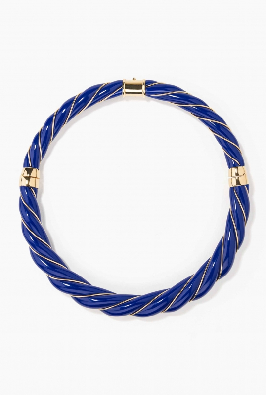 Diana Navy necklace