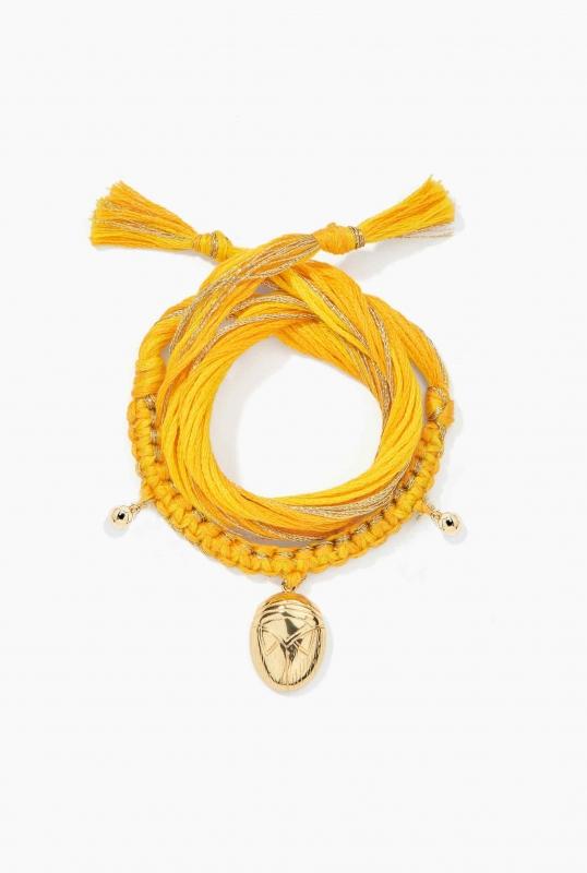Honolulu Yellow Bracelet charm beetle