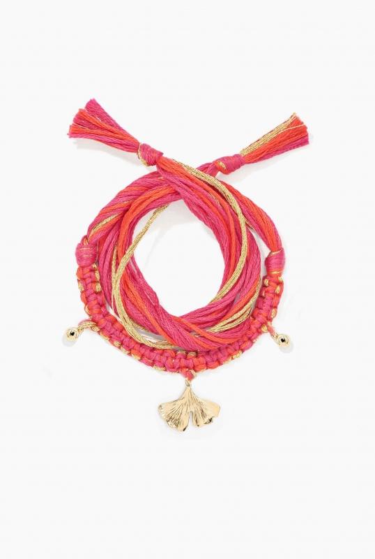 Honolulu Pink Bracelet ginkgo charm