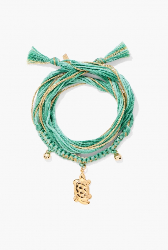 Bracelet Honolulu Emerald turtle charm