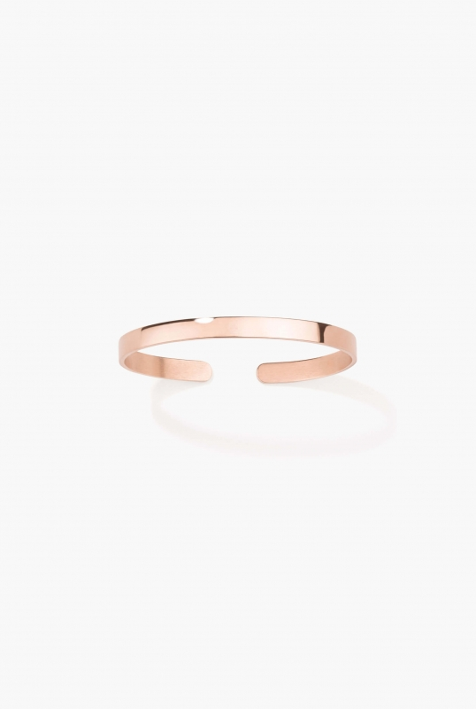 Pink gold engraved bangle