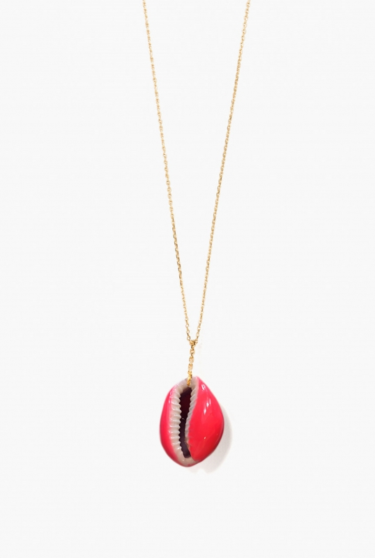 Merco necklace fluo pink